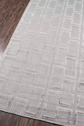Grey Indian Geometric Modern Rug 1
