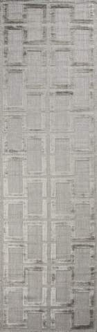 Grey Indian Geometric Modern Rug 2