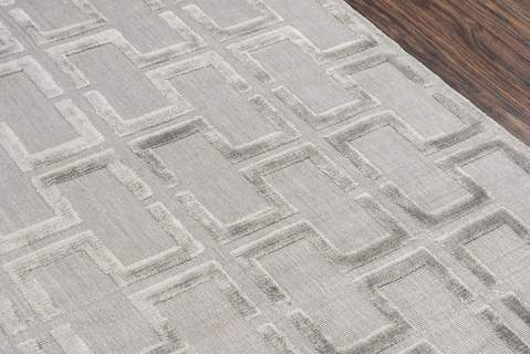 Grey Indian Geometric Modern Rug 3