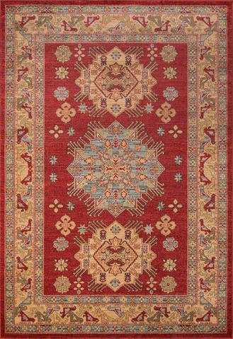 Red Turkish Classic Traditional Rug