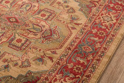 Beige Turkish Classic Traditional Rug 1