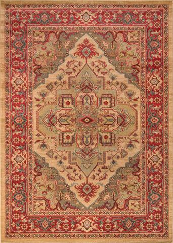 Beige Turkish Classic Traditional Rug