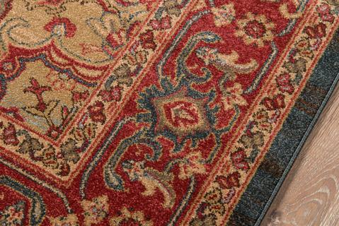 Navy Turkish Classic Traditional Rug 1