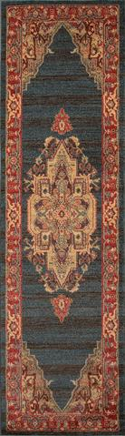 Navy Turkish Classic Traditional Rug 2