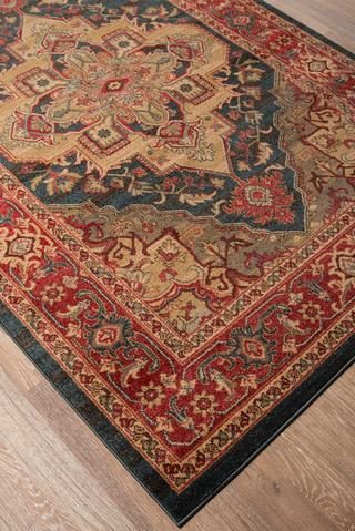 Navy Turkish Classic Traditional Rug 3