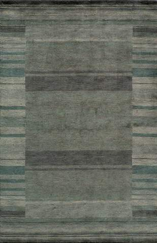 Blue Indian Transitional Modern Rug
