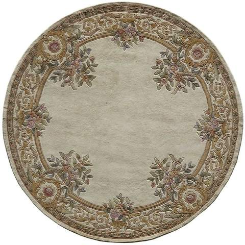 Ivory Chinese Classic Traditional Rug 3