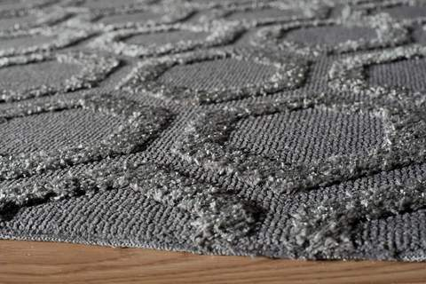 Charcoal Chinese Transitional Modern Rug 1