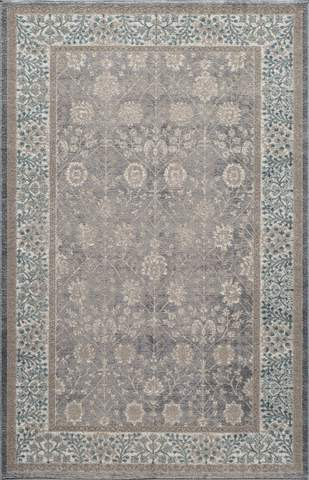 Silver Turkish Traditional Rug