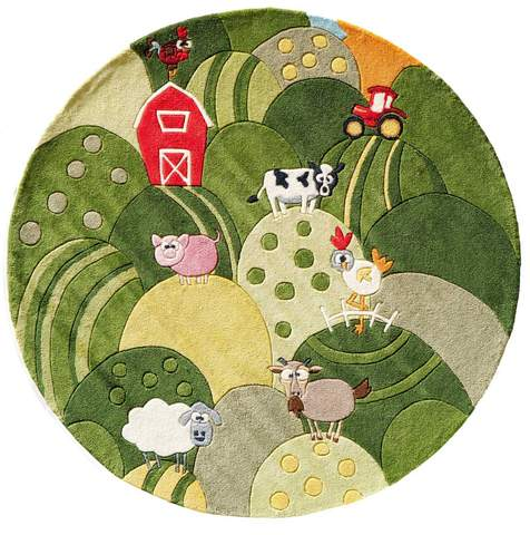 Grass Chinese Modern Kids Rug 2