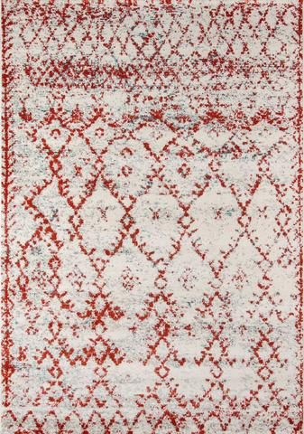 Rust Turkish Geometric Rug
