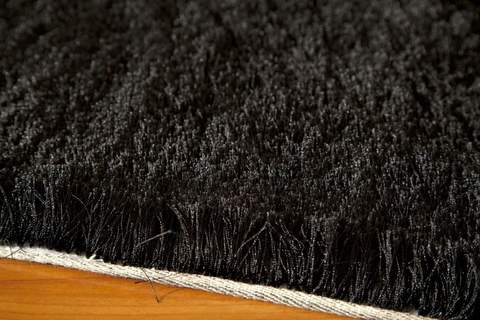 Black Chinese Transitional Shag Rug 1