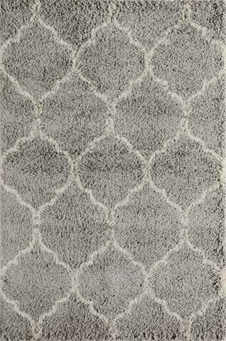 Grey Turkish Southwestern Shag Rug