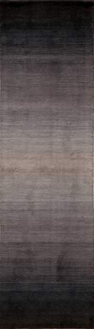 Midnight Black Indian Modern Rug 2