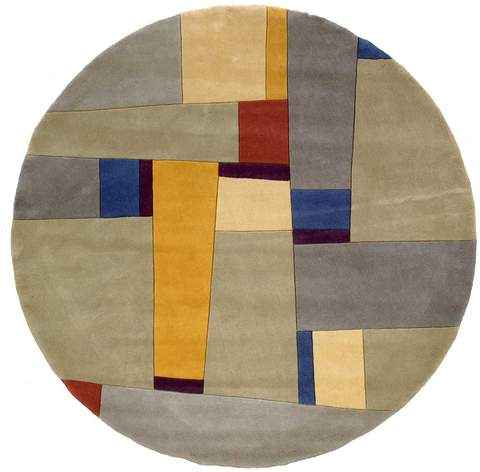 Grey Chinese Modern Abstract Rug 3