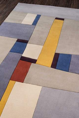 Grey Chinese Modern Abstract Rug 4