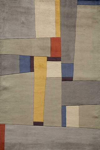 Grey Chinese Modern Abstract Rug