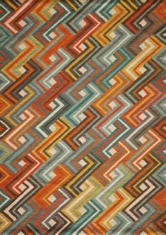 Electric Zig Zag Geometric Modern Rug - Multiple Sizes
