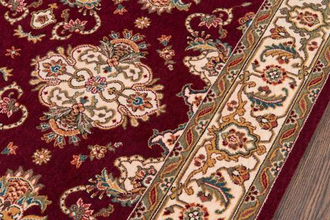 Burgundy Chinese Traditional Rug 1