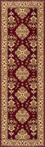 Burgundy Chinese Traditional Rug 2