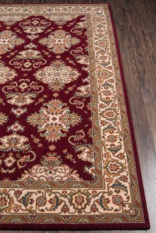 Burgundy Chinese Traditional Rug 3
