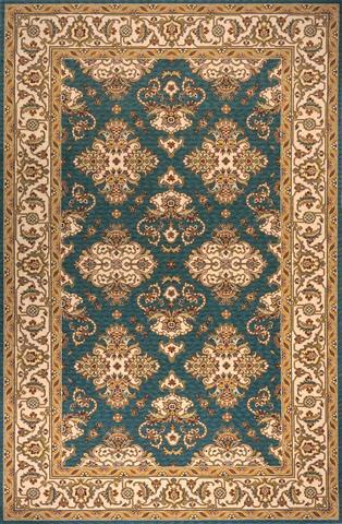 Teal Blue Chinese Traditional Rug
