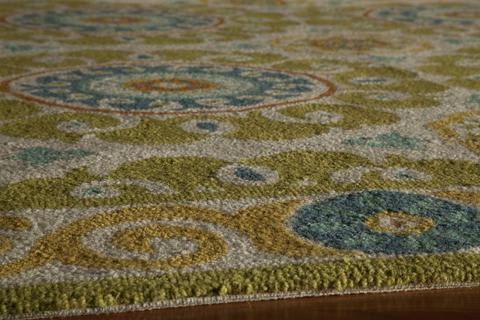 Lime Chinese Transitional Modern Rug 1