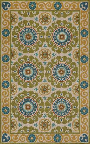 Lime Chinese Transitional Modern Rug