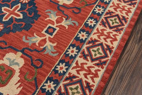 Red Indian Classic Traditional Rug 1
