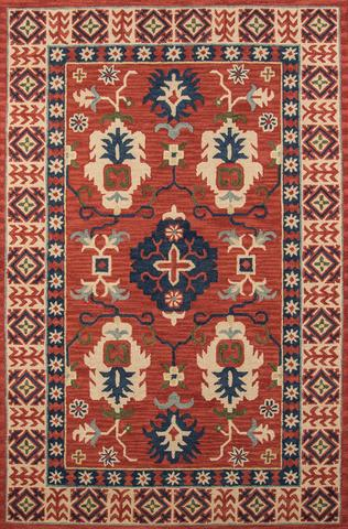 Red Indian Classic Traditional Rug