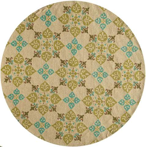Beige Chinese Geometric Indian Hand Tufted Rug 2