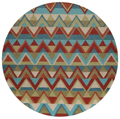 Multi Chinese Stripe Rug 2