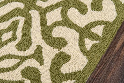 Green Chinese General Life Style Rug 1
