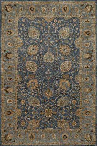 Blue Indian Classic Traditional Rug