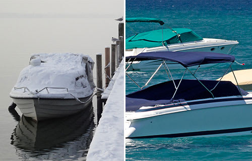Choosing the right boat cover based on weather