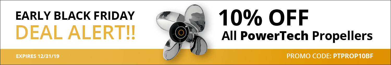 PowerTech Sale - 10 percent off all PowerTech boat propellers