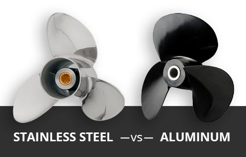 stainless vs aluminum boat propeller