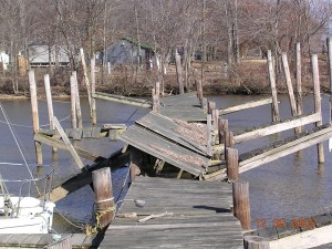Dock damaged by ice - need a de-icer