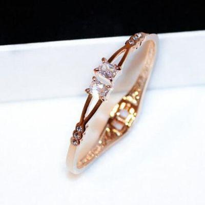 Gold Plated Zircon Adjustable Bracelet