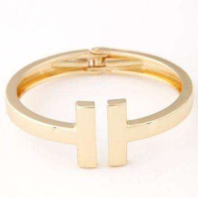 Gold Metal Cuff Bracelet