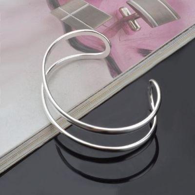 Silver Two Wire Bracelet
