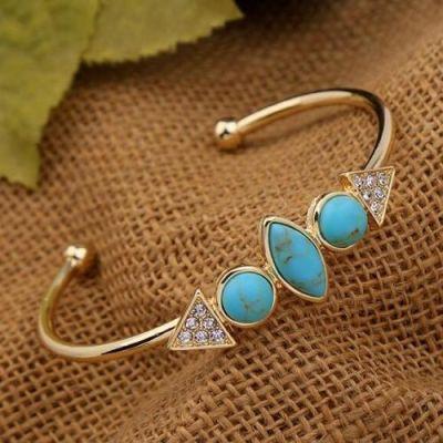 Natural Blue Stone Bracelet