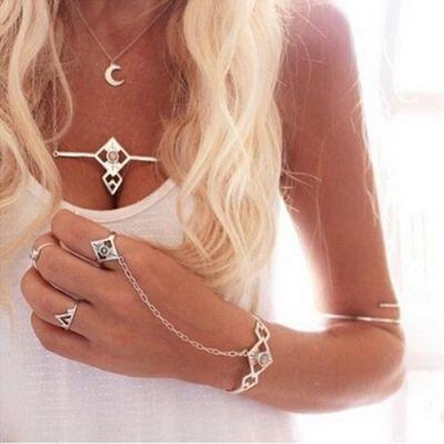 Vintage Silver Hand Chain