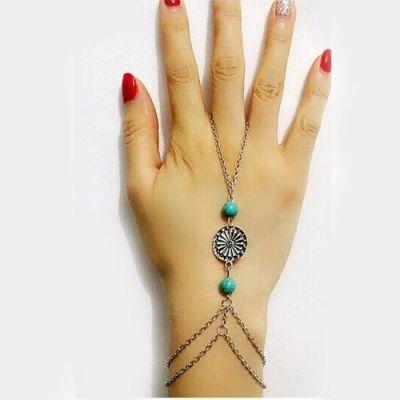 Round Blue Beads Bracelet