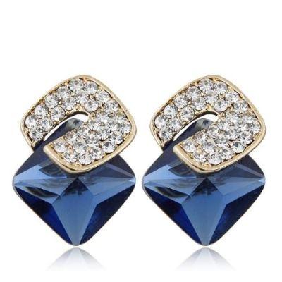 Three-dimensional Blue Earrings