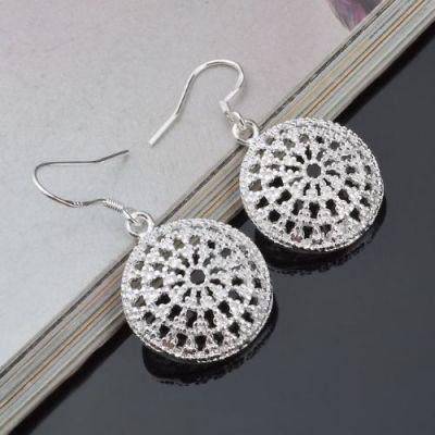 Flower Drop Hollow Earrings