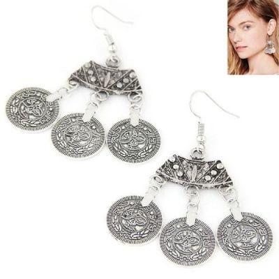 Metal Vintage Coin Earrings