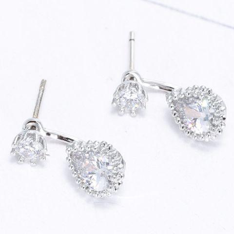 Water Droplets Zircon Earrings