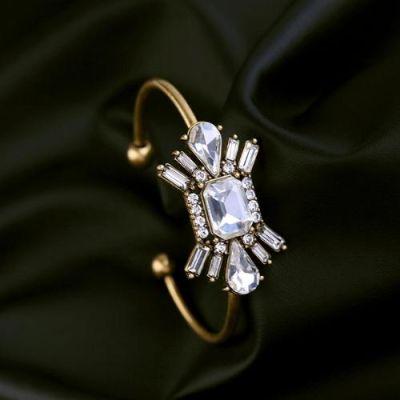 Shinny Floral Open Cuff Bracelet