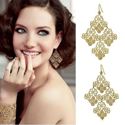 Exquisite Rose Gold Earrings
